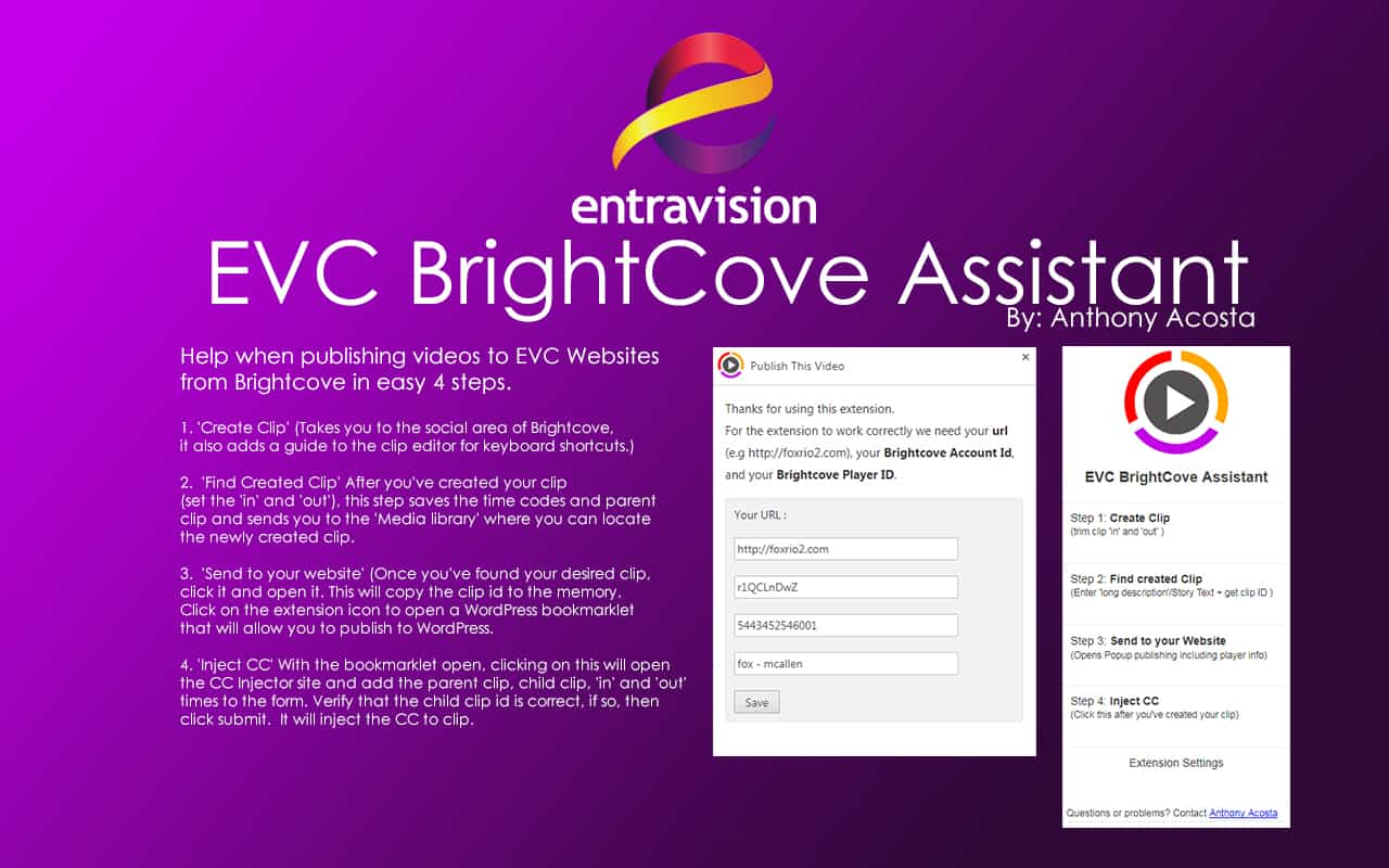EVC BrightCove Assistant Plugin 1